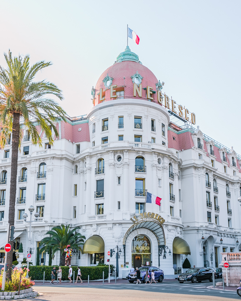Hotel Negresco - Promenade des Anglais in Nice, French Riviera