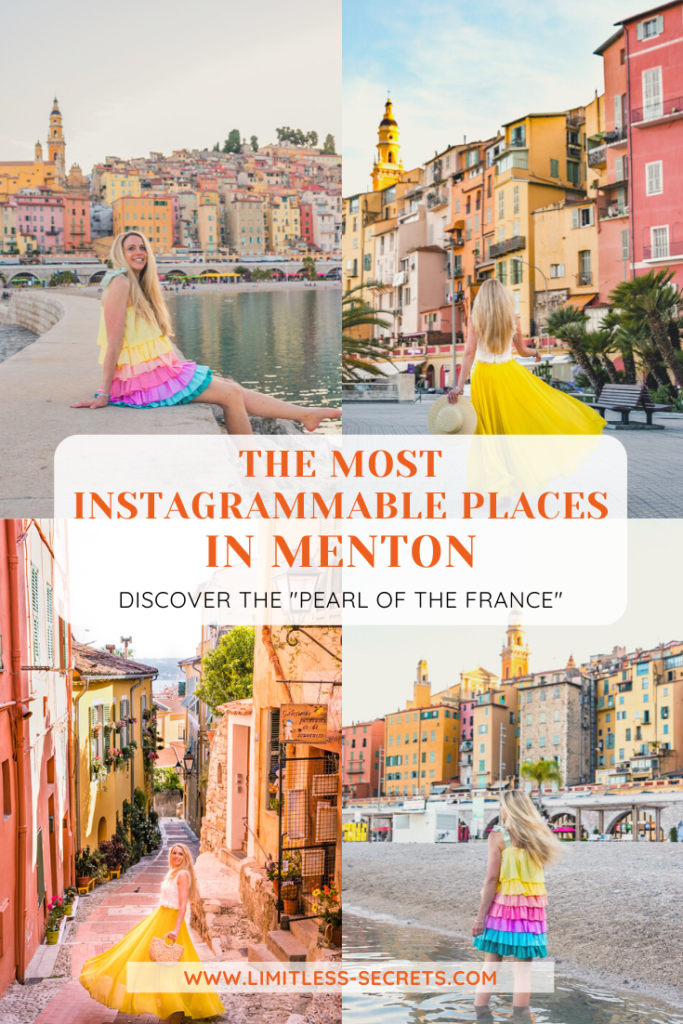 Discover with me the Most Instagrammable places in Menton! Menton is the cutest town in South of France located on the coastline of the Mediterranean Sea close to the Italian border. It's a must-see in the French Riviera! You will fall in love with every corner of this city! Here are the Best Instagram Photos Spots in Menton! Menton's best photography spots | Menton travel guides | What to do in Menton | Best places to take photos in Menton | Instagram places in Menton | What to see in Menton