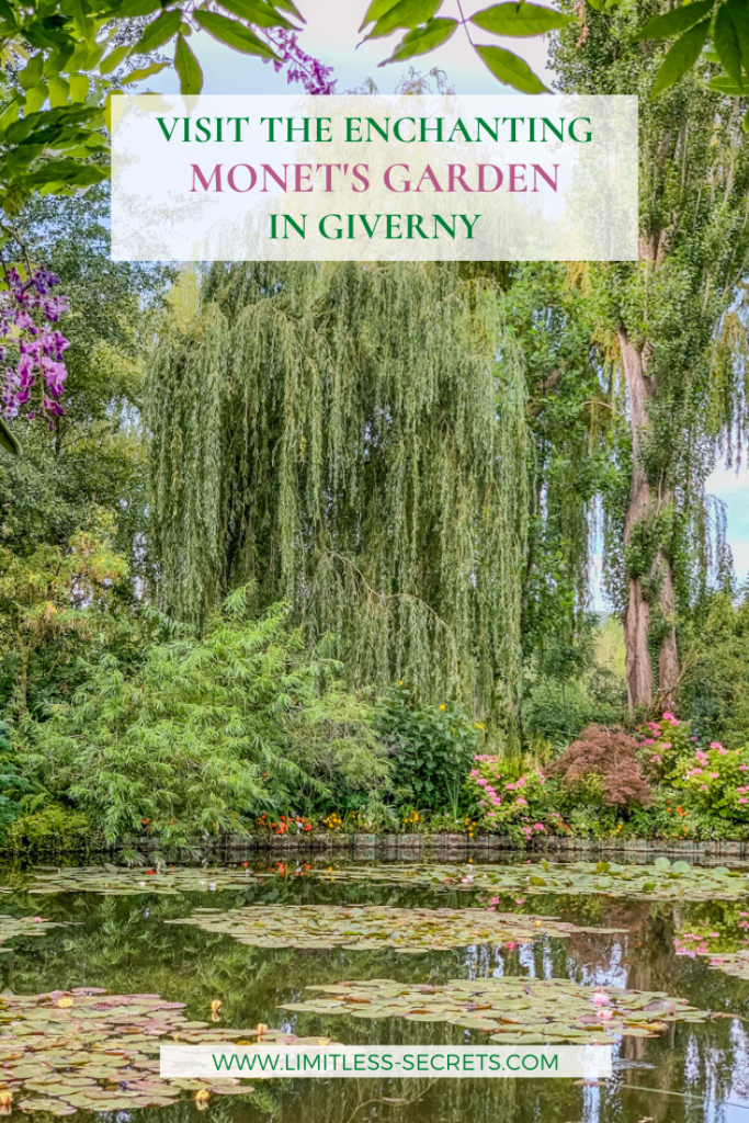 Visit the enchanting Monet's garden in Giverny. Claude Monet, the famous French impressionist painter, used to live in a beautiful house surrounded by a gorgeous garden in Giverny (Normandy). In this guide I am giving you all the information and tips you need to visit the enchanting Monet's garden and house in Giverny (France)!