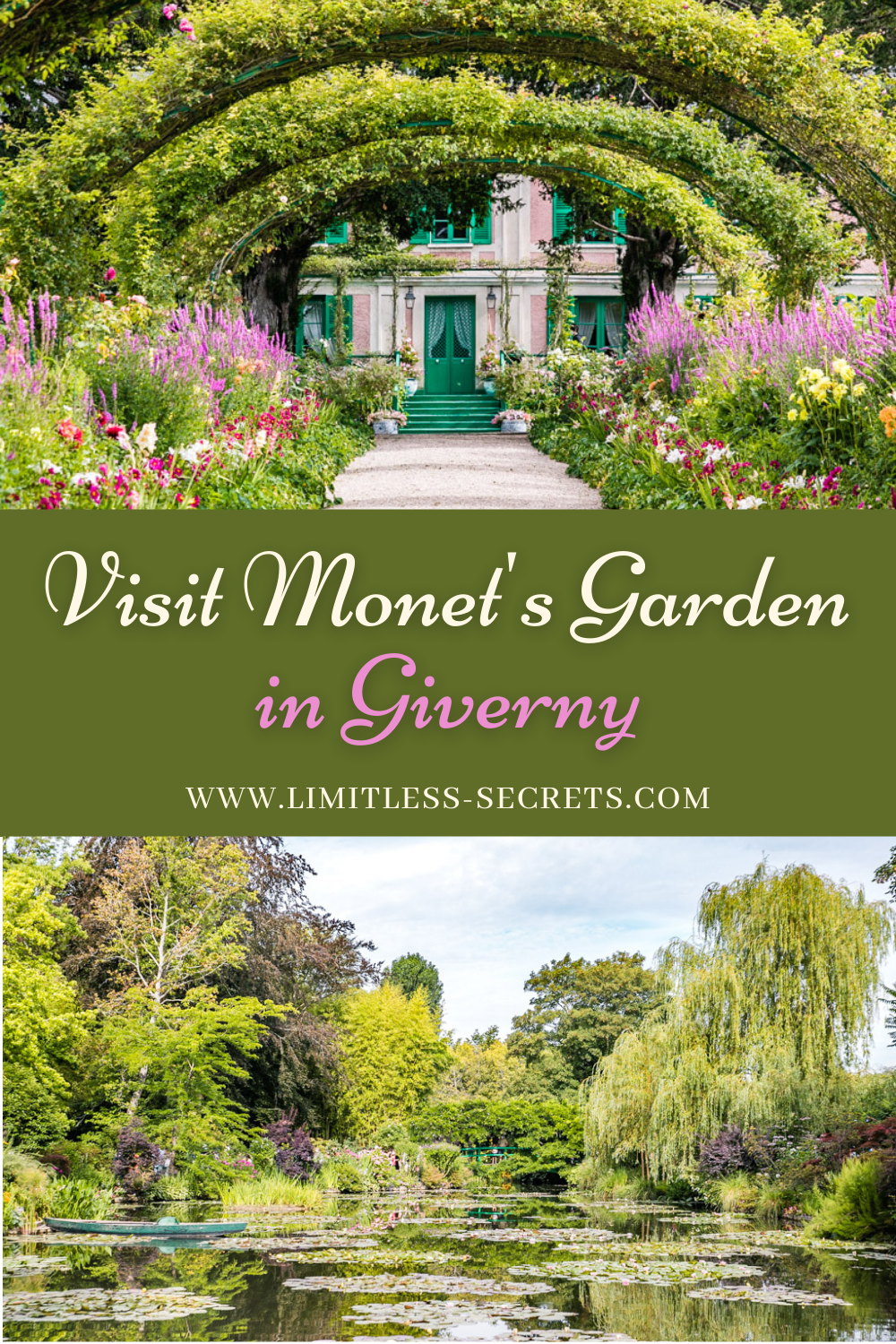 The garden of Claude Monet, the famous French impressionist painter, is a beautiful place to visit in Giverny, France. In this guide I give you all the information and tips you need to visit Monet's house and garden.