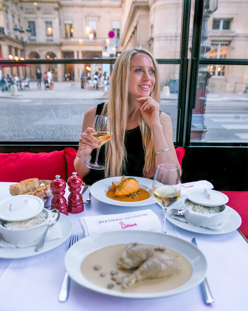 Dinner at Brasserie du Louvre in Paris