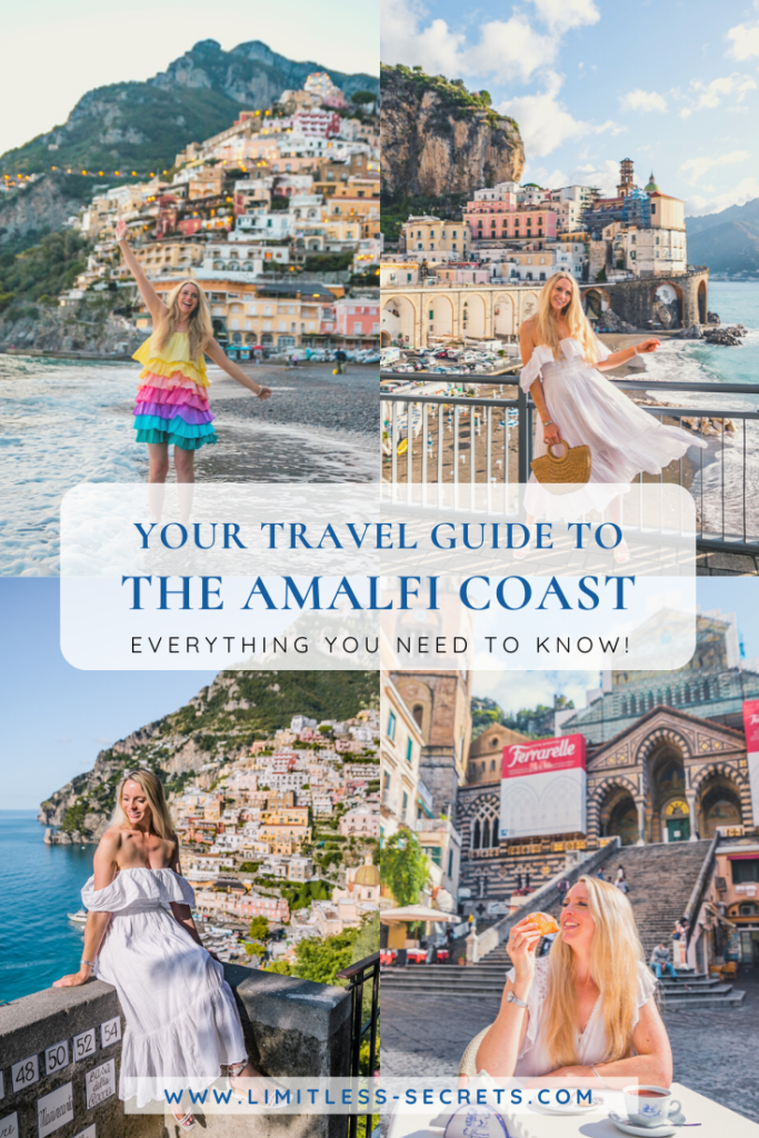 The Amalfi Coast is one of the most famous and stunning places of Italy! Pristine turquoise waters meeting with mountains, charming colorful villages and breathtaking views: so photogenic! Here is an indispensable travel guide with all the things you need to know before your trip to the Amalfi Coast! Is the Amalfi Coast and Positano worth the hype? What is the best time of year to visit? Is it really expensive? Where to stay? I am answering all your questions and giving you travel tips!
