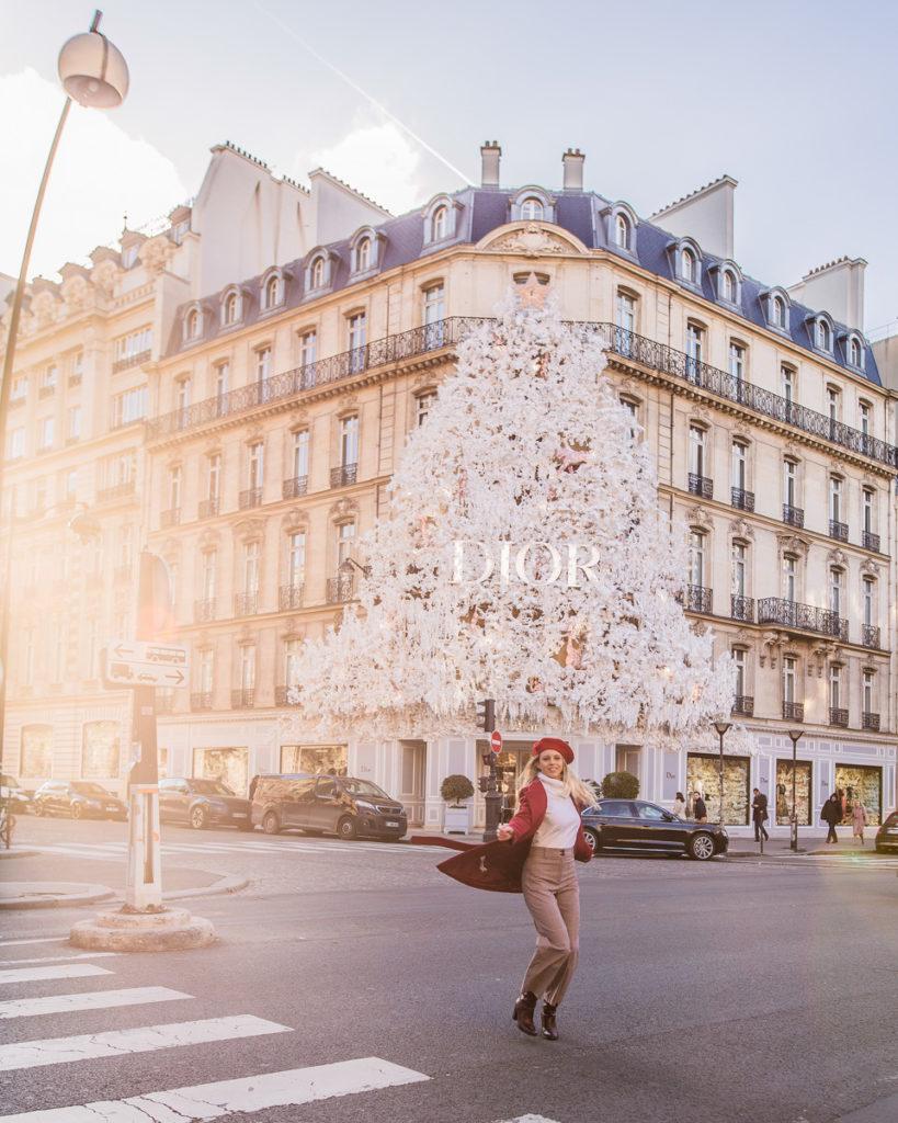 Dior Avenue Montaigne - Christmas in Paris