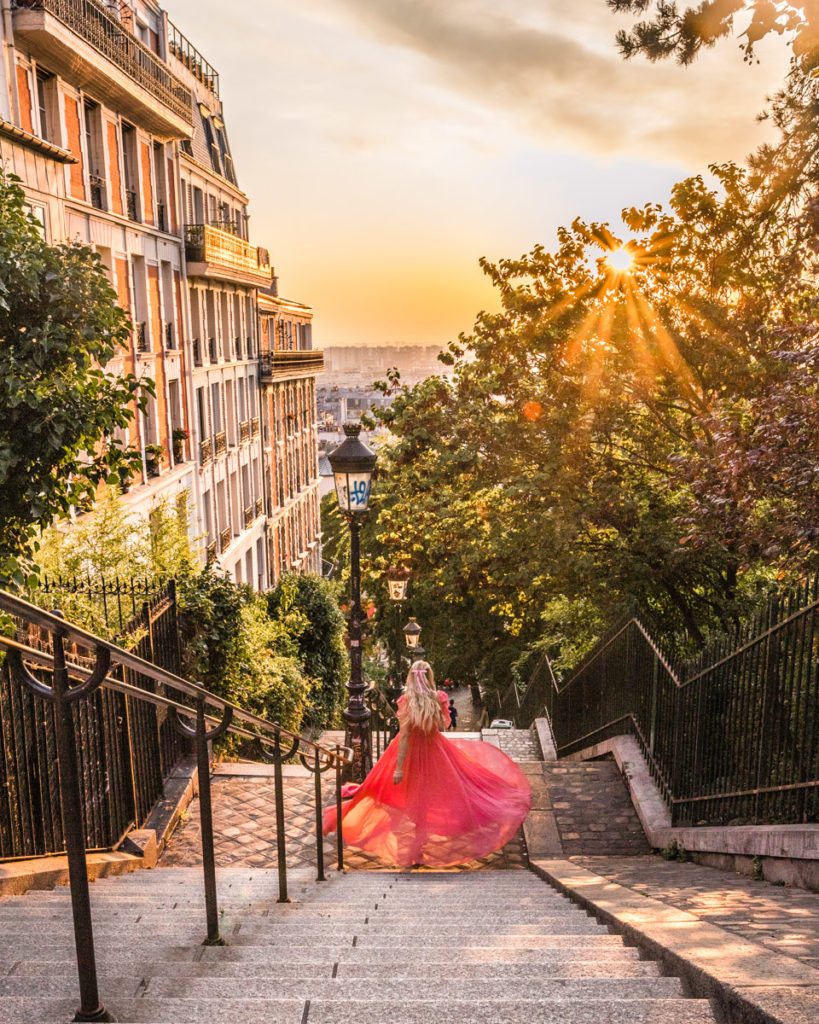 Staircase in Montmartre - Paris