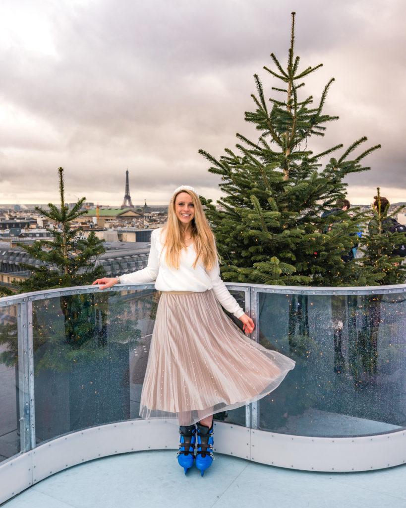 Ice rink in Galeries Lafayette - Christmas in Paris