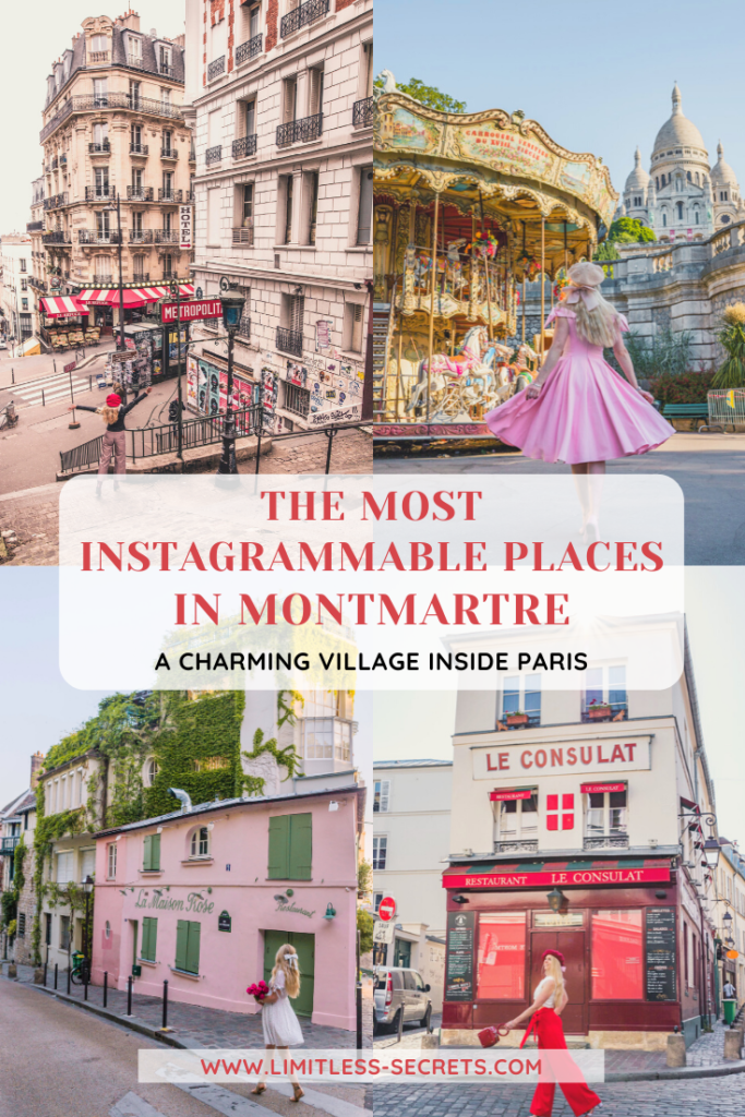 Montmartre is a lovely district of Paris perched on the top of a hill in the 18th arrondissement. This neighborhood looks like a village within the capital city. It's one of the most charming areas of Paris and it's full of photogenic corners! I am sharing with you here the Most Instagrammable Places in Montmartre. In this article I will give you all the best places to take photos in Montmartre! Paris photography | Paris travel guides | What to do and see in Montmartre | Best of Montmartre