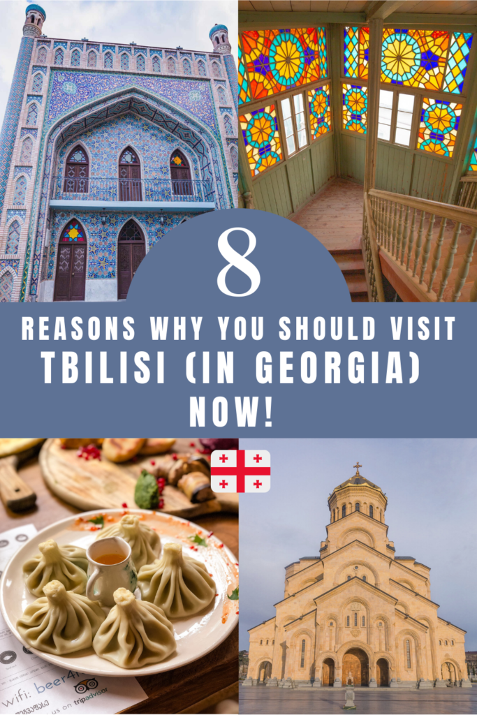 8 Reasons why you should visit Tbilisi (in Georgia) now! Tbilisi, the capital city of Georgia, is a real gem! The country of Georgia is located between Asia and Europe in the Caucasus region. In this article I am giving all the reasons why you should visit Tbilisi now! This city has many assets: its architecture, its gastronomy, its Sulphur baths, its landmarks and much more! Discover here why Tbilisi needs to be on your travel bucket list! Tbilisi travel   Tbilisi trip   Georgia travel   Tbilisi travel guides   Things to do and see in Tbilisi