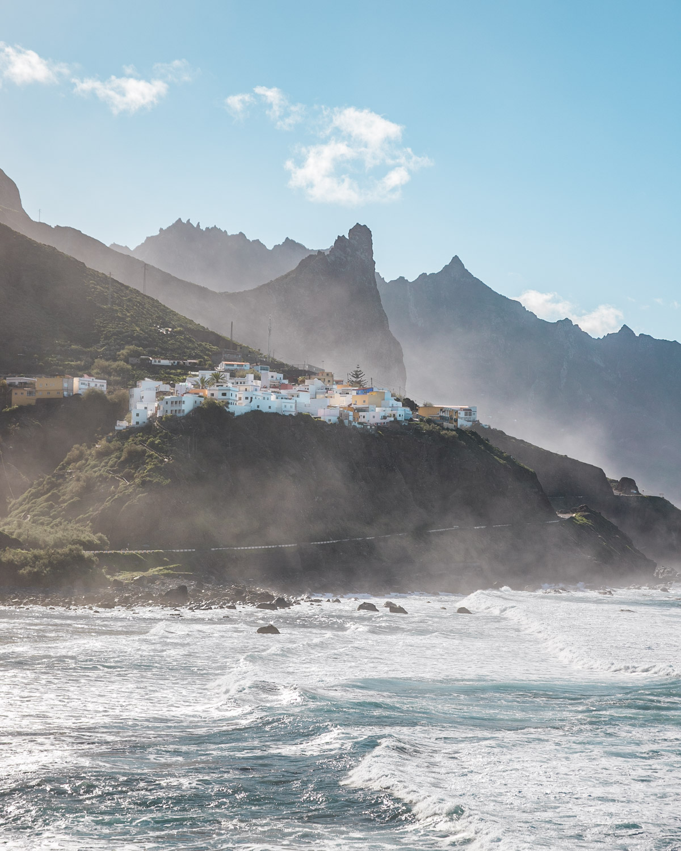 View of Taganana from Playa de Benijo in Tenerife - Canary Islands