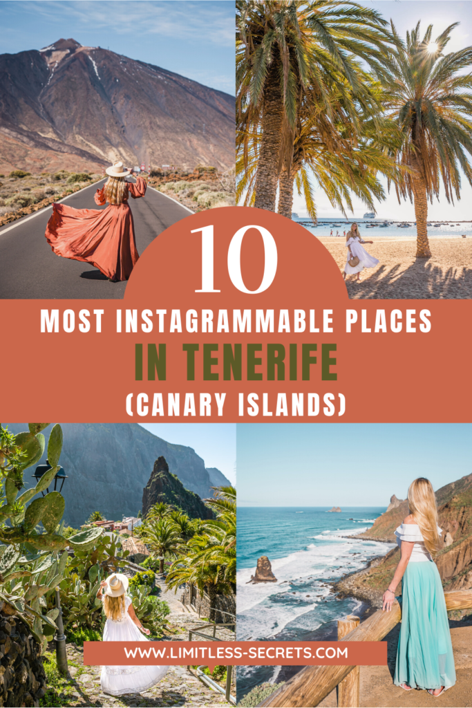 Tenerife in the Canary Islands is a stunning destination, with many picturesque places. I am sharing with you in this guide the most instagrammable places in Tenerife! You will get here all the best places to take photos and the most photogenic spots in Tenerife! I am giving you their exact location in the island, the best way to take your photos in those Insta spots with my secret tips! Enjoy the best photography spots in Tenerife in this travel guide!
