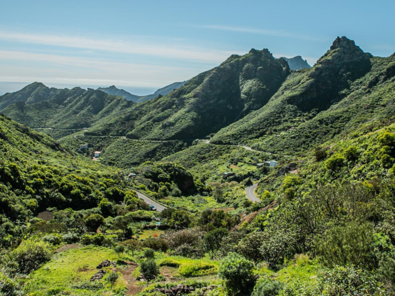 Mountains around Taganana in Tenerife - Canary Islands