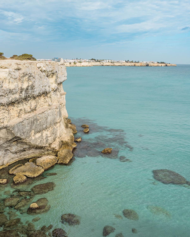 Coastline close to Le Due Sorelle in Torre dell'Orso - Puglia