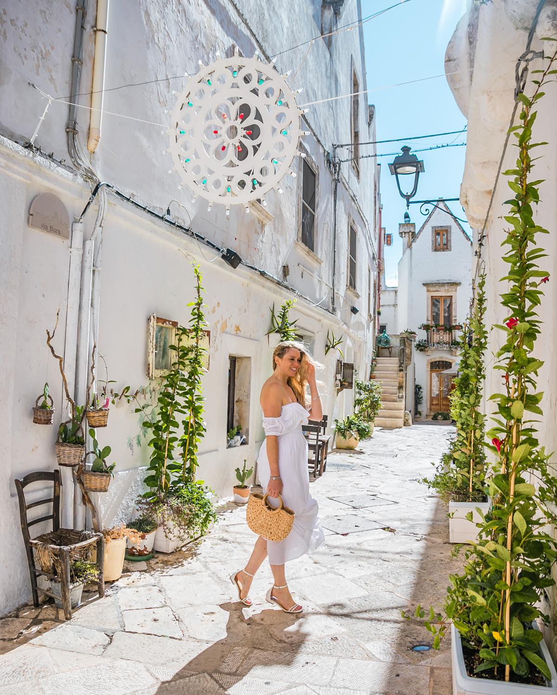 Historic center of Locorotondo in Puglia
