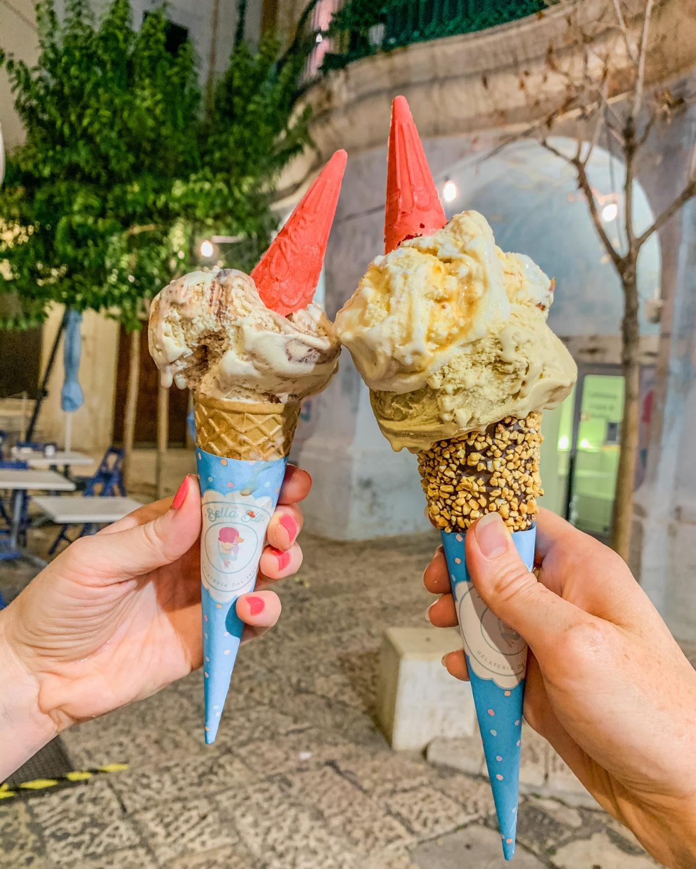 Ice-creams from Bella Blu Gelateria in Monopoli - Puglia