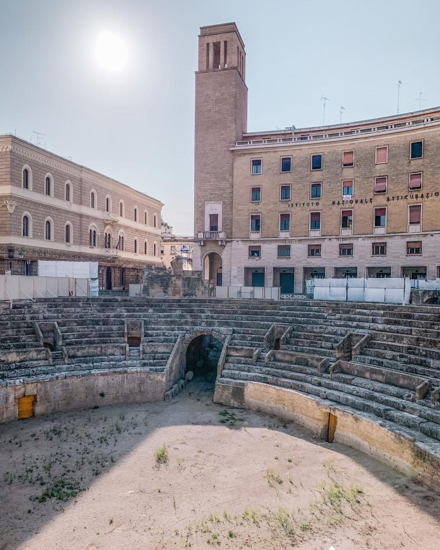 The Roman amphitheater in Lecce - Puglia