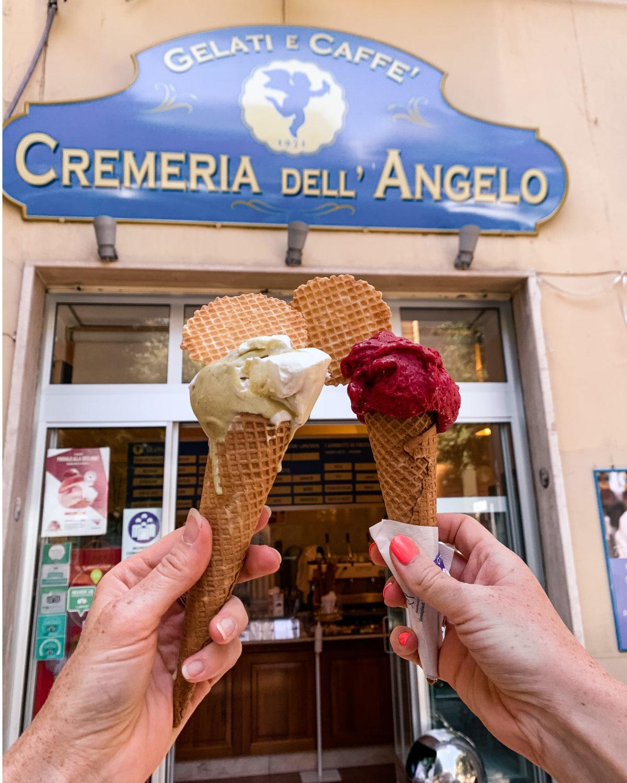 Ice-creams from La Cremeria Dell'Angelo in Matera - Basilicata (near Puglia)