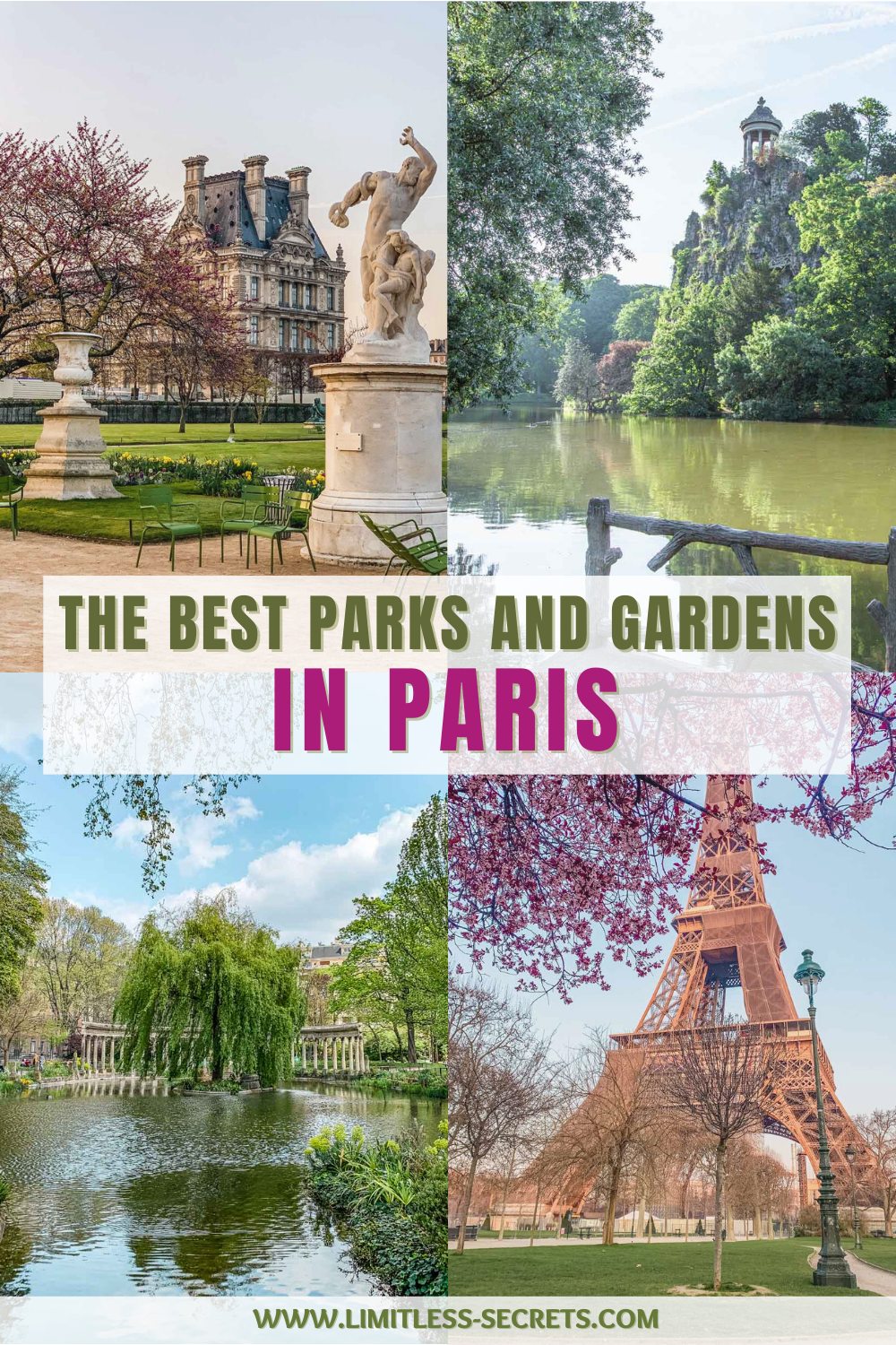 Paris is a green city with a lot of parks and gardens to enjoy! Here is the list of all the best parks and gardens that you can explore in town! You will love to wander in them in all seasons! #paris #france #parks #gardens Paris travel guides | What to do in Paris | Best places to visit in Paris | Green spaces in Paris | Best places to see in Paris | Green Paris | Famous gardens in Paris | Paris gardens and parks | Must-see places in Paris