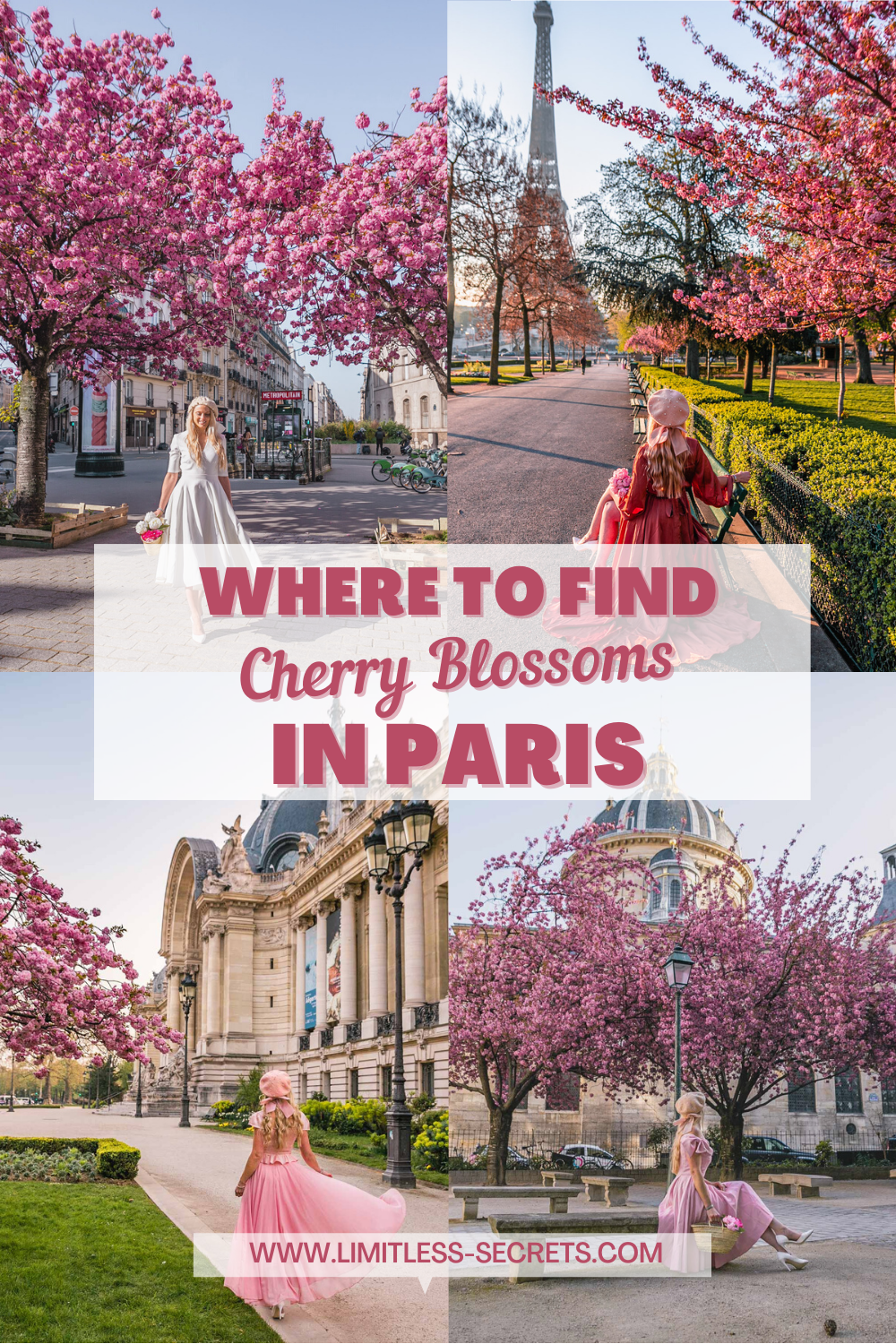 I have gathered for you all the best places to see the cherry blossoms in Paris! Paris in spring is like a fairy tale! And you will find all the information to enjoy it fully in this guide about Spring in Paris! #paris #cherryblossoms #spring #sakura Paris travel guides | Paris in spring | Where to see flowers in Paris | most instagrammable places in Paris | Where to find the best cherry blossoms in Paris